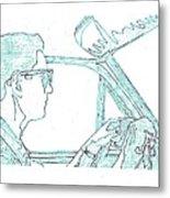 Clarence Driving Blue Metal Print