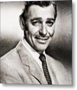 Clark Gable, Vintage Hollywood Actor By John Springfield Metal Print