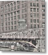Clark Street Bridge Metal Print