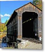Clark's Trading Post Railroad Covered Bridge Metal Print