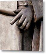 Clasped Hands - Sculpture Garden Nola Metal Print
