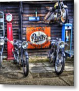 Classic British Bikes Metal Print