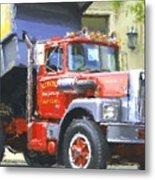 Classic Brockway Dump Truck Metal Print