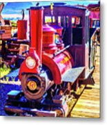Classic Calico Train Metal Print