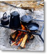 Classic Camp Cooking Metal Print