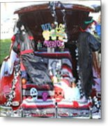 Classic Car Decor Day Of The Dead  Metal Print