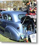 Classic Car Decorations Day Dead  Metal Print