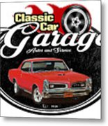 Classic Car Garage With Gto Metal Print