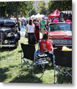 Classic Cars Day Of The Dead II Metal Print