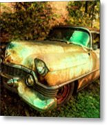 Classic Country Cadillac Painting  Metal Print