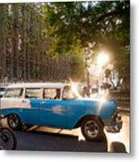 Classic Cuba Car Xii Metal Print