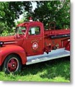 Classic Fire Truck Metal Print