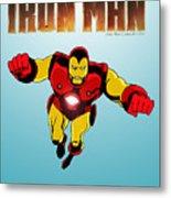 Classic Iron Man Metal Print