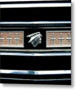 Classic Mercury Grill Emblem Metal Print