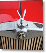 1936 Mg Ta Radiator And Mascot Metal Print