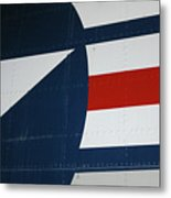 Classic Military Aircraft Abstract- Star 5 Metal Print