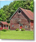 Classic Old Red Barn In Vermont Metal Print