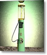 Polly Gasoline Pump And Emblem Metal Print