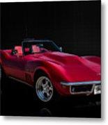 Classic Red Corvette Metal Print