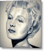 Classic Rita Hayworth Metal Print