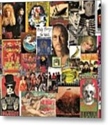 Classic Rock 2 Collage Metal Print