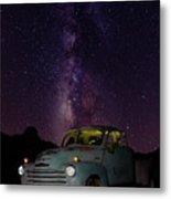 Classic Truck Under The Milky Way Metal Print