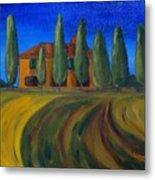 Classic Tuscan Sunset Metal Print