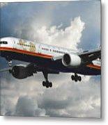 Classic Twa Boeing 757-231 Metal Print