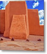 Classic View Of Ranchos Church As Oil Metal Print