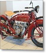 Classic Vintage Indian Motorcycle Red   # Metal Print