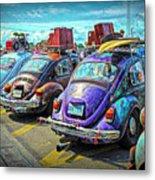 Classic Volkswagen Beetle - Old Vw Bug Metal Print