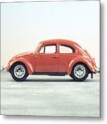 Classic Vw Bug Red Metal Print