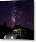 Classic Vw Bug Under The Milky Way Metal Print