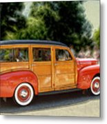 Classic Woody Station Wagon Metal Print