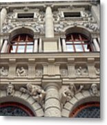 Classical Decorative Building Facade In Vienna Metal Print