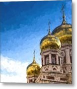 Intercession Cathedral In Saratov Russia Metal Print