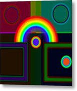 Classical Rainbow Metal Print