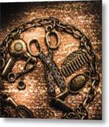 Classy Haircut Icons Metal Print