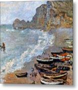 Claude Monet: Etretat, 1883 Metal Print