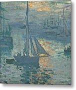 Claude Monet Sunrise Metal Print