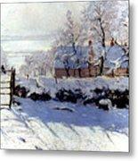 Claude Monet: The Magpie Metal Print