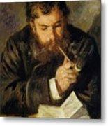 Claude Monet The Reader 1874 Metal Print