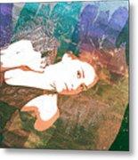 Claudia Nude Fine Art Painting Print In Sensual Sexy Color 4895. Metal Print