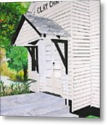 Clay Chapel Metal Print
