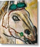 Clay Horse Metal Print
