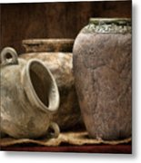Clay Pottery II Metal Print