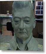 Clay Sculpture Of Gerald Simpson Metal Print