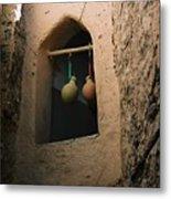 Clay Water Bottles In Oman Metal Print