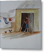 Cleaning Day In Agladones Metal Print