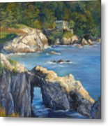 Clear Day At Point Lobos Metal Print